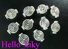 100 pcs Tibetan silver spiral pot spacer beads A305
