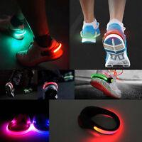 2 x LED Luminous Shoe Clip Light Night Warning Safety Cycling Bike Running Sport