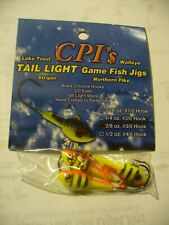 24 CRAPPIE PRO  TIGER WIZARD TAIL LIGHTS JIG HEADS 3/8 OZ #3/0 HOOK WALLEYE,