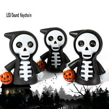 Skull LED Light Torch Scary Sound Keyring Toy Halloween Party Favor Supply HQ IM