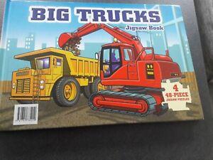 Big Trucks Jigsaw Book 4 x 48 Piece Jigsaws, excellent condition