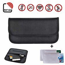 RFID Block ANTI DIEBSTAHL Datenklau Tasche Etui Gelbbeutel 2x Kreditkartenhülle