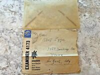 Vintage Postage Envelope 1940 - Germany to New York City - Rare Marks/Stamps
