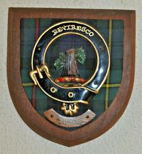Clan MacEwan wall plaque shield crest scottish Scotland tartan Ewing