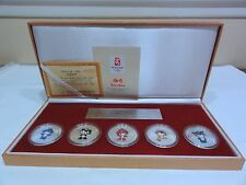 Beijing 2002 Olympic Games Set of 5 Commemorative Medalions