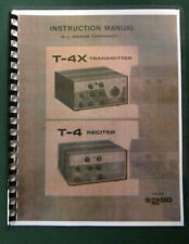 "Drake T-4X / T-4 Owners Manual: 11"" x 17"" Foldout Schematics & Protective Covers"