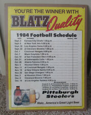 VINTAGE 1984 PITTSBURGH STEELERS SCHEDULE POSTER BY BLATZ BEER SHRINK WRAPPED