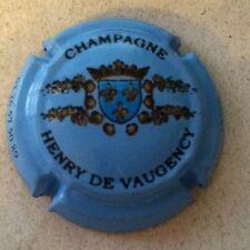 Capsule de champagne VAUGENCY (Henry de) (fond bleu)