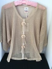 Bolero Shrup Cover Up Mesh Throw Over Top Full Sleeves NWT