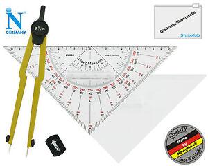 Navigationsset Navigationsbesteck Marinezirkel Kursdreieck NEU! Set 3.0G