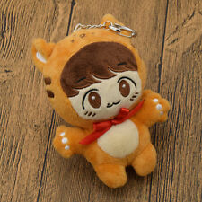 KPOP EXO BAEKHYUN Soft Doll Toy Keychain Clip Keyring Handmade Gift Fashion New