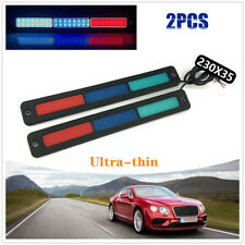 2PCS Ultra-thin Car DRL LED Daytime Running Light Turn Signal Strip Bar Fog Lamp