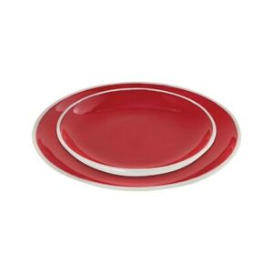 Elk Lighting Cerise Set of 2, Plates, Red and Aluminum - 626791