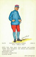 Military Postcard French Foreign Legion Officer 1913 02.11