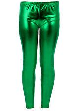 WOMENS WET LOOK METALLIC LEGGINGS LADIES SHINY PLUS SIZE 18 20 22 24 26 XXL XXXL