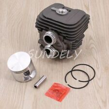 STIHL TS410 TS420 CYLINDER HEAD PISTON KIT WITH RINGS PIN CLIPS 50MM UK STOCK