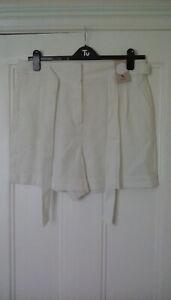 BNWT - ladies white shorts, linen mix,  size 16, from Tu