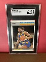 1987-88 Fleer #62 Lafayette Fat Lever SGC 6.5 Nuggets Graded Basketball Card