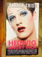 HEDWIG AND THE ANGRY INCH Window Card Poster DARREN CRISS (GLEE, VERSACE) [MINT]