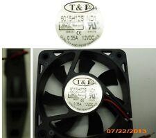 "2.36""*.59""inch/60mm*15mm T&T 6015H12S-ND1 12VDC/12V/9V Fan 2wire 6.5""tinned 6015"