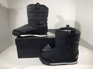 ADIDAS Kids Snowpitch Black Lined Winter Snow Boots Shoes Sz 12.5 Y ZE-885