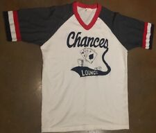 Vintage Mens T Shirt Chances Lounge Large Usa Made 50/50 Howe Cards Dice Graphic