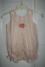 NWT Handmade Multi-Color Ruffle/Bow Trim Button Shoulder One Piece Romper~sz 3T