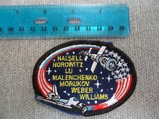 SPACE SHUTTLE MISSION PATCH HALSELL HOROWITZ HELMS VOSS WEBER  PATCH 3""