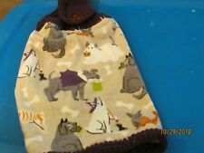 New listing Handmade Plush Crocheted Hanging Kitchen Towels Dogs Dressed For Halloween
