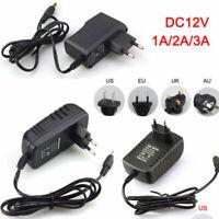 EU/US Plug DC 5/6/9/12V 1/2/3A AC Adapter Charger Power for LED Strip Light New
