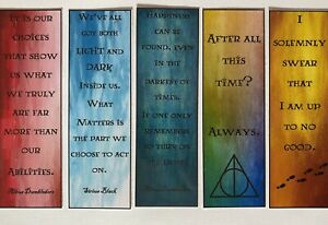 Harry Potter Bookmarks - Quotes (5 Total)