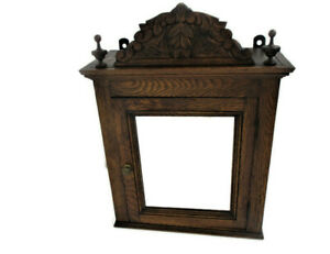 Kitchen Apothecary Bathroom Pharmacy Medicine Vanity Cabinet  Pediment Vintage