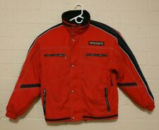 Vintage Descente Men's Ski Snow Red Jacket Coat Size Small Full Zip Snap Buttons