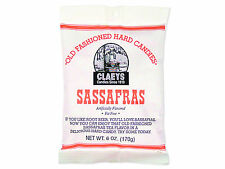 3 packages of Claeys Sanded Sassafras Drops Hard Candy with Free Shipping