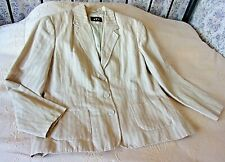 Light caramel sandy striped jacket by PER UNA Size 16 - 18 Linen and cotton