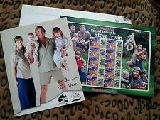 Original Autographs & 2007 Special Tribute Australia Stamp Sheet