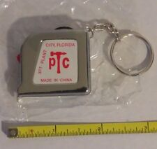"3 Ft. 1/4"" Tape Measure Keychain Mini Pocket Size Key Chain Ring 3 foot - 3'"