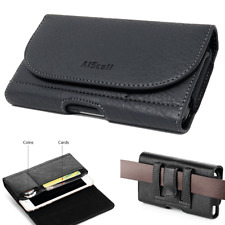 Leather Pouch Wallet Case Clip Holster For Samsung Galaxy S20+ ,Note 10+ , 9 , 8