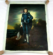"J. Thomas ""Blue Boy"" Oil on Canvas Painting Reproduction Not Framed 18.5""x 22.5"""