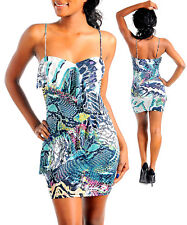 Women dresses stretch bodycon clubwear cocktail casual ruffle outfit size M