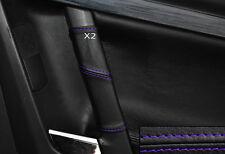 PURPLE STITCH 2X REAR DOOR HANDLE SKIN COVERS FITS VAUXHALL OPEL VECTRA C SIGNUM