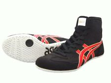 Outlet Asics Wrestling Boxing Shoes Ex-Eo Twr900 Black Red 23.5cm With Tracking