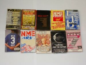 NME & Melody Maker + Promo Cassettes. 10 Different. Various Artists/Years.
