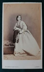 Carte de visite: Contemplative Lady, McLean & Haes, London, Victorian photo, cdv