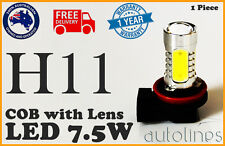 1x H11 7.5W LED COB CREE Lens 12V Headlight Super White Fog Lamp Globe Bulb HID