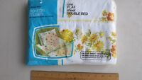 VINTAGE NEW IN PACKAGE PENNEY'S FASHION MANOR FLORAL FLAT SHEET DOUBLE BED