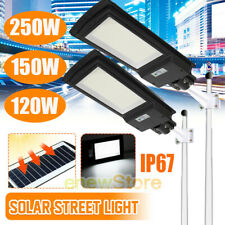 900000LM Solar Powered Street Light Commercial IP67 Area Security Road Lamp+Pole