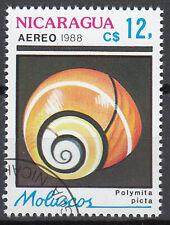 Nicaragua Briefmarke gestempelt Landschnecke Schnecke Karibik Meerestier Tier/43