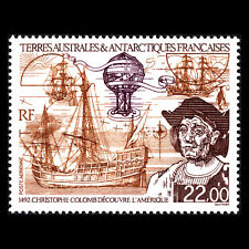 TAAF 1992 - Discovery of America by Columbus Ships - Sc C121 MNH
