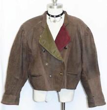 LEATHER JACKET Coat  BROWN Men German Winter Hunting Sport Ranch Women 48 16 L